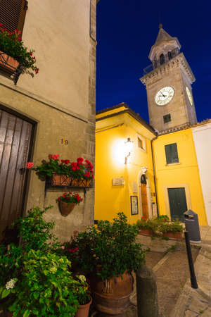 ITALY - 25 JUNE, 2014: Evening street in the old town of San Marino Editorial