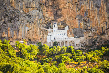 Monastery Ostrog in the mountains, a functioning Serbian Orthodox monastery, located at an altitude of about 900 m above sea level. Founded in the XVII century