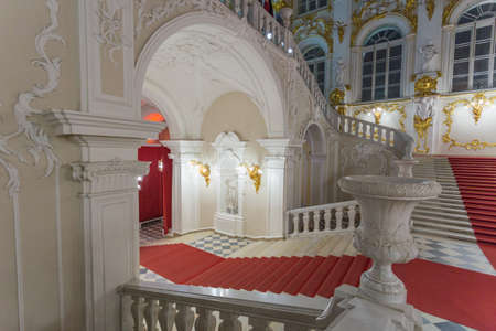 Russia, St. Petersburg, November 15, 2017. The interior of the Hermitage Museum Editöryel