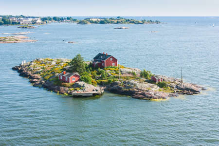Islands in the Baltic Sea near Helsinki in Finland Stock Photo