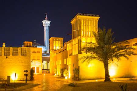 DUBAI, UAE - 8 NOVEMBER 2013: Arab Street in the old part of Dubai, UAE