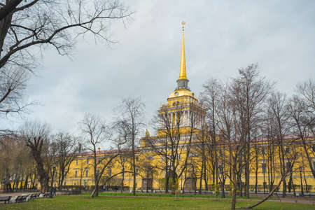 Russia, St. Petersburg, November 12, 2017. Admiralty. The architectural ensemble located in the center of St. Petersburg