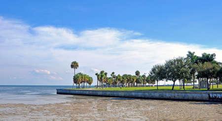 st  pete: Spiaggia passerella con un oceano di bassa marea a St Pete, Florida