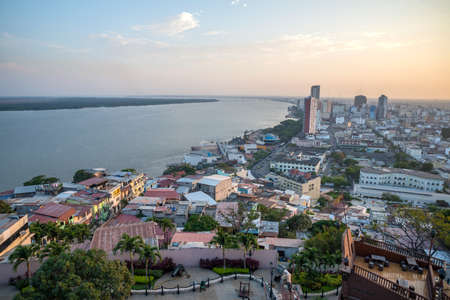 river: High view of the city of Guayaquil and it\\\\\\\\ Stock Photo