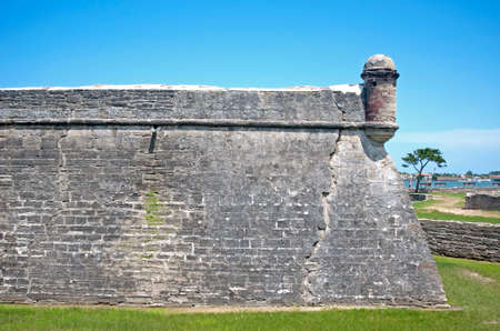 Walls of the old Castillo de San Marcos fort in St. Augustine, Florida