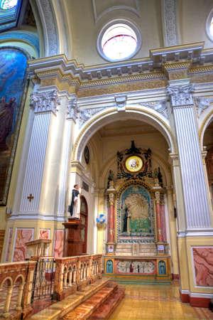 Interior of the Santo Domingo church, Guayaquil, Ecuador