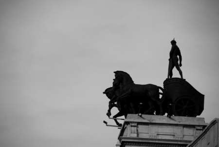 Horses and Man Monument photo