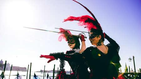 carnevale: Women in Carnevale Di Venezia Venice