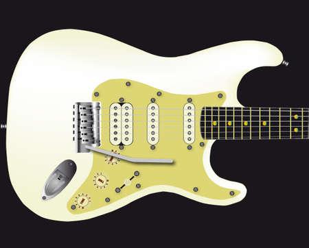 frets: White Electric Guitar