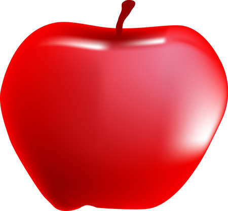 A red apple Vector