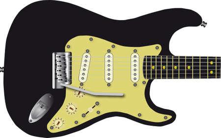 tremolo: Electric guitar Illustration
