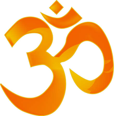 The Om or Aum sign  Vector