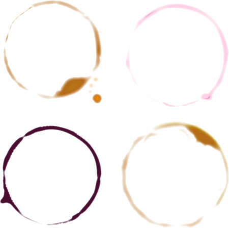 wine stains: Drink Rings