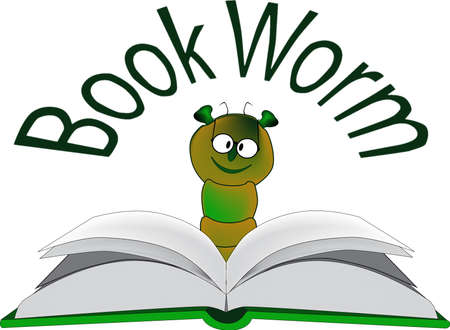 The Book Worm Vector
