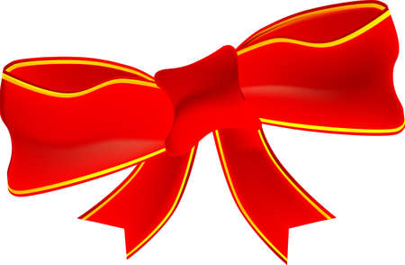 Red Ribbon Bow Stock Vector - 15024108