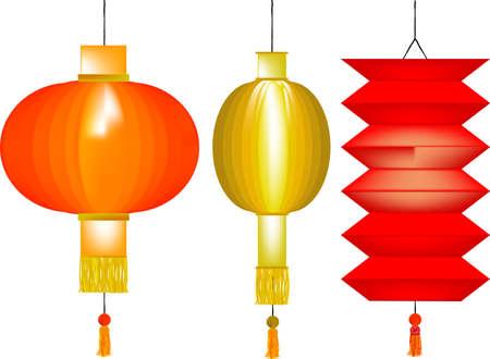 chinese paper lanterns: 3 Chinese Paper Lanterns