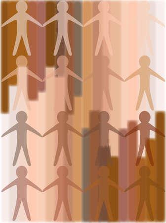 skin tones: The Human Race Illustration