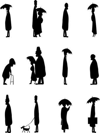 Senior Citizens Walking Home Vector