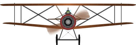 World War One Biplane  Vector