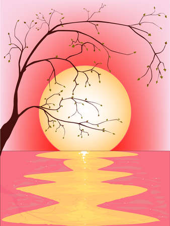 Pink Sunset Stock Vector - 15357459