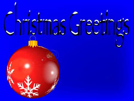 Christmas Greetings Card Stock Vector - 15399444