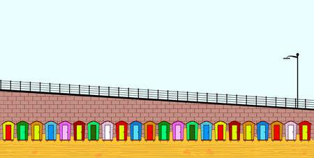 beach hut: Empty Beach Huts