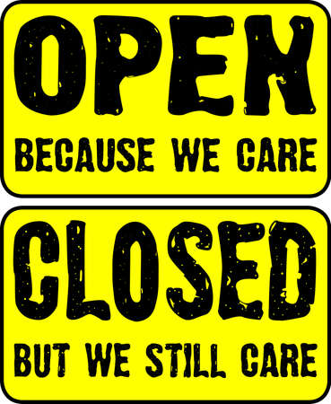 shop sign: Open and Closed Shop Sign