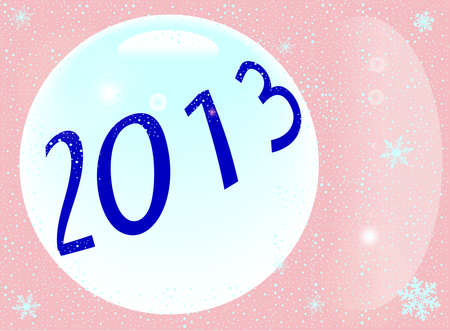 twenty thirteen: 2013 New Year Illustration