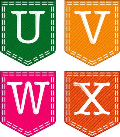 Alphabet Letters Stock Vector - 15569791