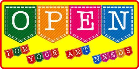 Art Shop Open Sign