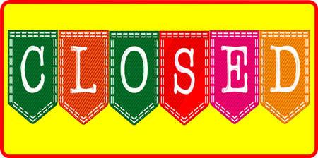 Shop Closed Sign Illustration