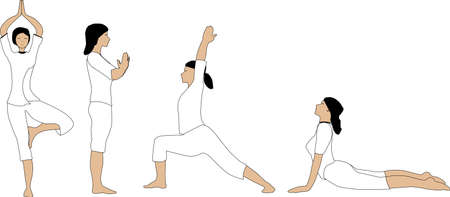 Basic yoga asana Vector