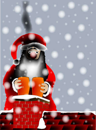 sooty: A sooty Father Christmas.