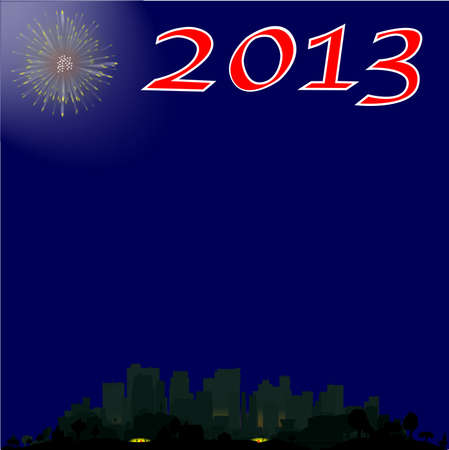 A 2013 New Year Background Stock Vector - 15856054