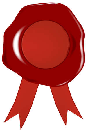 Wax Seal With Ribbons  Vector