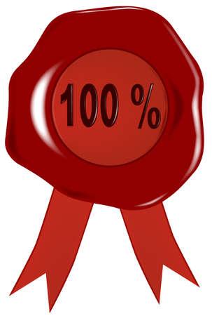 tampon cire: Un cachet de cire ou un sceau avec la l�gende en relief 100 Illustration