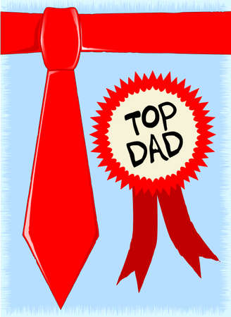 A fathers day tie with rosette - the text is an original graphic easily editable Stock Vector - 15955886