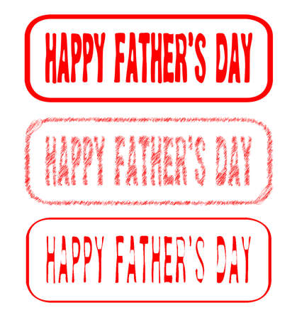 Father s Day Rubber Stamp Impressions  Vector