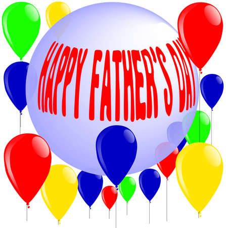 Father s Day message with ball and balloons Stock Vector - 15973982