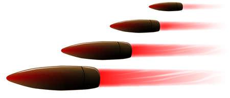 Vier snelheidsovertredingen geweerkogels