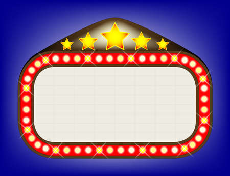 flashing: Theatre Marquee Illustration