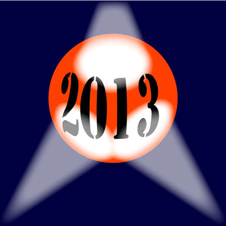 A spotlit globe with the year 2013 in large numbers. Stock Vector - 16246226