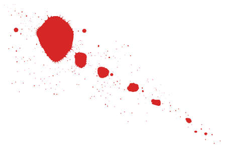 A blood or paint splatter  Vector