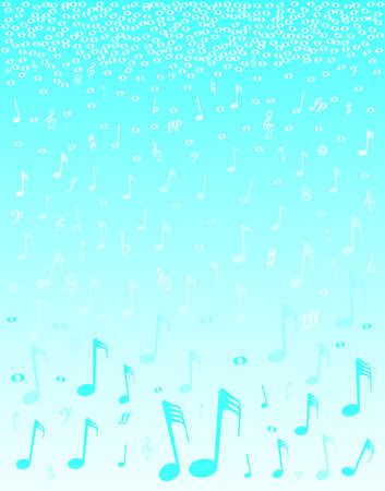 semiquaver: Una selezione di note musicali e simboli che cade come se la neve