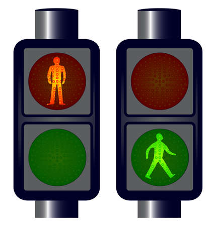 emitting: Walking man traffic lightys No meshes.