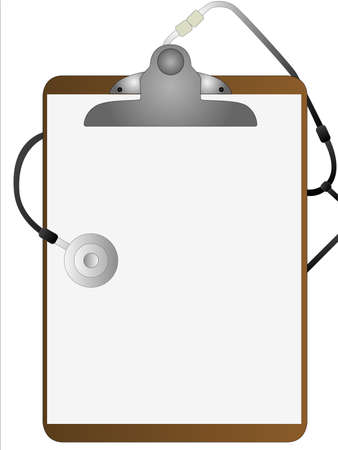 clipboard isolated: A hospital clipboard