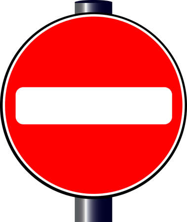 A large round red traffic stop sign Vector