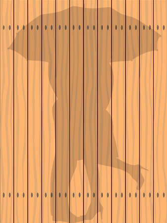 A kissing romantic couple s shadow on a fence  Stock Vector - 16782880