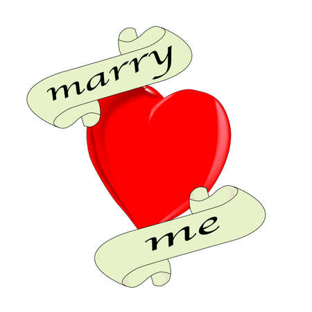 A tattoo style image of the  Marry Me  logo  Vector