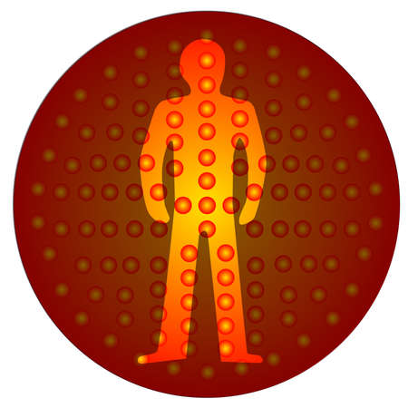 light emitting diode: The standing man from the stop traffic signal  Illustration